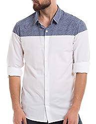 Shuffle Men's Casual Shirt (8907423017993_2021512501_X-Large_Blue)