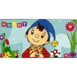 Kids/Childrens Noddy Garden design cotton beach towel/bath sheet (75cm x 140cm)