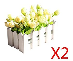 Fences 2 Potted Flower Artificial Flowers For Wedding Decoration