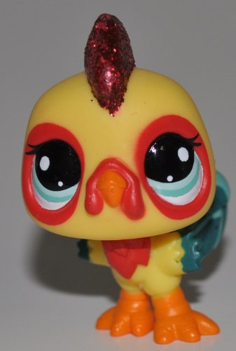 Rooster #2358 (Mail Away Special Edition, Sparkle) - Littlest Pet Shop (Retired) Collector Toy - LPS Collectible Replacement Figure - Loose (OOP Out of Package & Print)