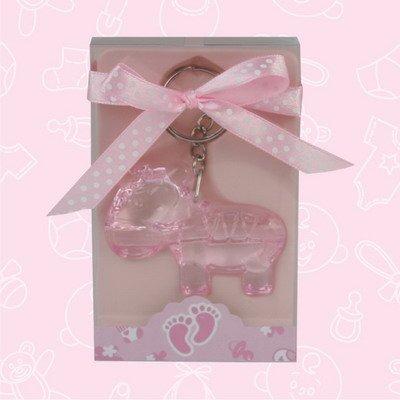 24 Baby Shower Baby Girl Zebra Keychain Favor In Box Favors Gift Keepsake Favor