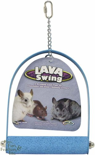 Super Pet Lava Swing Perch Chew Treats for Chinchillas, Rabbits, Hamsters & Gerbils (Assorted)