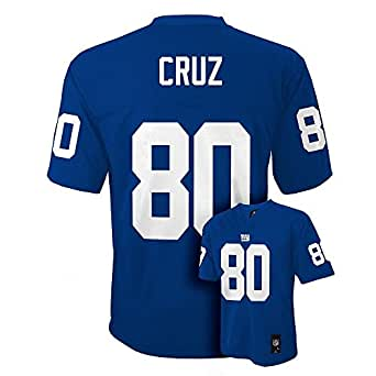 Victor Cruz New York Giants Blue NFL Kids 2013-14 Season Mid-tier Jersey (Kids 4)