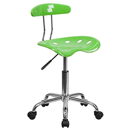 MFO Vibrant Apple Green and Chrome Computer Task Chair with Tractor Seat
