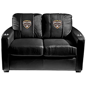 XZipit Silver Loveseat with ESPN College Game Day Logo Panel - Black
