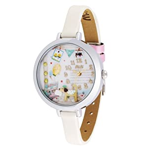 Woman's Leather 3D Mini Watch - Little Dog 971