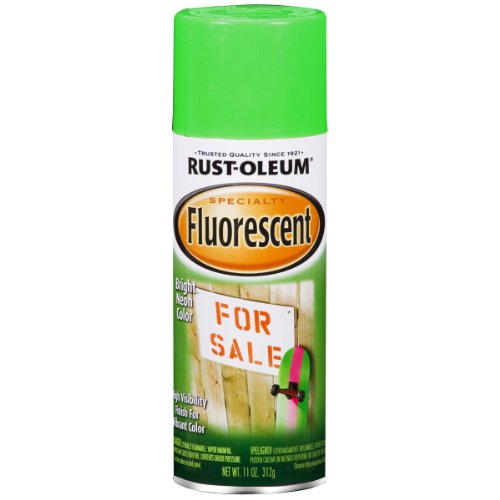 Rust-Oleum 1932830 Fluorescent Spray, Fluor Green, 11-Ounce (Fluorescent Green Spray Paint compare prices)