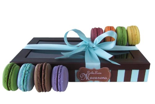 Leilalove Macarons 8 Quantities - five Flavors. Flat Box- We Already Gift Wrapped it for you