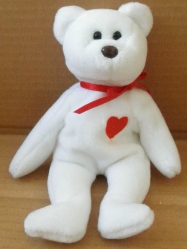 TY Beanie Babies Valentino Bear Plush Toy Stuffed Animal - 1