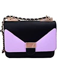 Super Drool Black And Purple Sling Bag