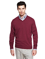 Collezione Cotton Rich V-Neck Jumper with Cashmere