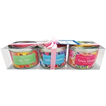 Danali New York - Gift Set Of 3 Scented Tin Candles - Bright Floral (Iris Rose, Apple Cinnamon, And Lemon Blossom)