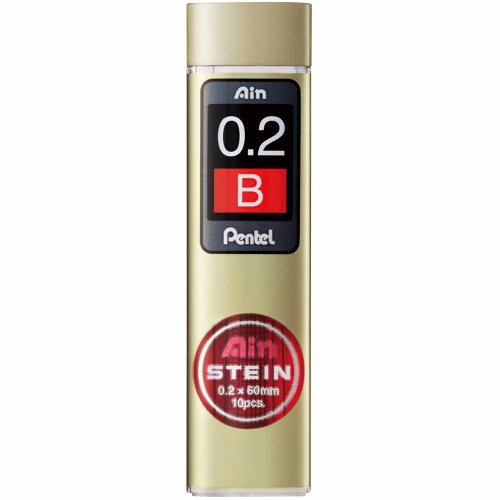 Pentel C272-B Ain Stein 0.2mm Refill Leads Bulk Pack (10 tube) - Black Lead