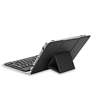 Universal Keyboard Case, TeckNet; Folio Pro 1 Universal Portable Folio Cover and Removable Bluetooth Keyboard for All Models of Tablets Up To 8 inches