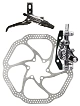 Avid Elixir 9 Front Disc Brake with Carbon Left Lever (160mm HS1 Rotor, 850mm Hose)- Grey Anodized