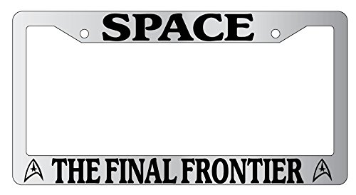 Space The Final Frontier High Quality Chrome Metal License Plate Frame Star Trek 69 (License Plate Frame Space compare prices)