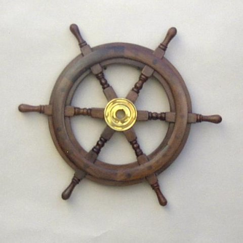 Wood Ship Wheel 24