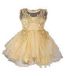 Addyvero Buff Gold Baby Girls Halter Dress