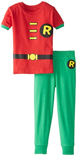 DC Comics Baby Boys' Short Sleeve LL Robin 2 Piece Cotton Infant