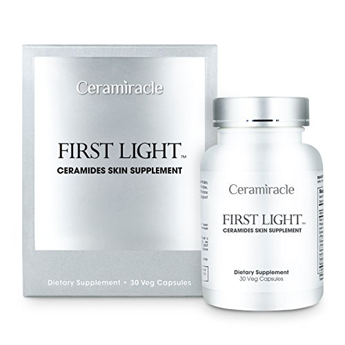 Ceramiracle First Light Ceramides Skin Supplement with Phytoceramides, Hyaluronic Acid, and L-Glutathione for Anti-Aging, Hydration, and Wrinkle Repair (Crystal Tomato Supplement compare prices)