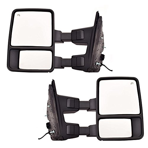 DEDC Pair 99-15 Ford F250 F350 F450 Super Duty Towing Mirrors Manual Telescopic With Signal Lights Fits 1999 2000 2001 2002 2003 2004 2005 2006 2007 2008 2009 2010 2011 2012 2013 2014 2015 (2014 F250 Tow Mirrors compare prices)