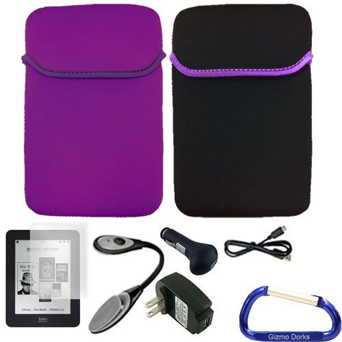 Gizmo Dorks Reversible Cover Case (Purple Black) Accessories for Kobo Glo eReader from Electronic-Readers.com