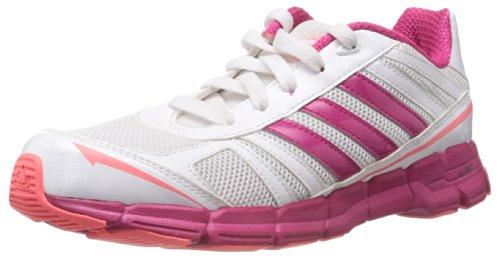 adidas adifast K G96385, Unisex-Kinder Laufschuhe, Weiß (Running White Ftw / Blast Pink F13 / Red Zest S13), EU 36 2/3 (UK 4)