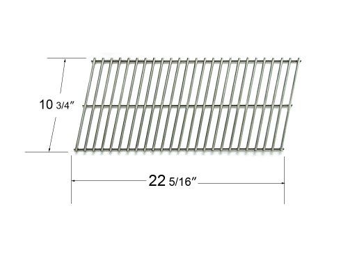 96701 - Char-Broil, Masterflame & Precision Flame 7000 Series, Kenmore & Thermos Gas Grill Replacement Stainless Steel Cooking Grid front-576598