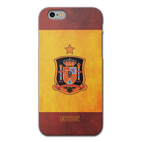 [EM SPEZIAL] Apple iPhone 6 Plus / 6s Plus Fussball Handyhülle mit Staubschutzkappen von original Urcover® in der UEFA EURO 2016 Edition iPhone 6 Plus / 6s Plus Schutzhülle Case Cover Etui Europameisterschaft 2016 Fahne Fanartikel Team Spanien
