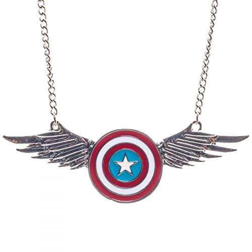 Captain America Shield Wings Chain Necklace