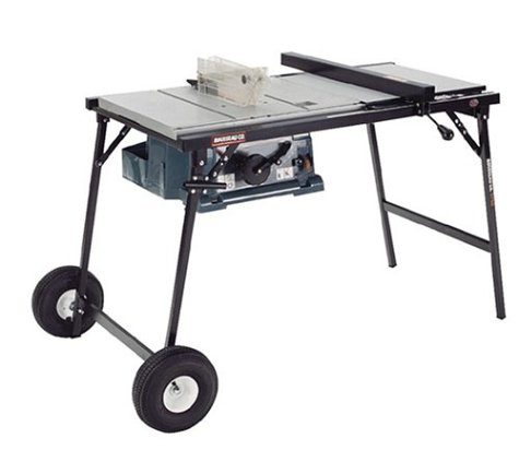 Rousseau 2750 portamak wheeled folding table saw stand for makita table saws only Used table saw