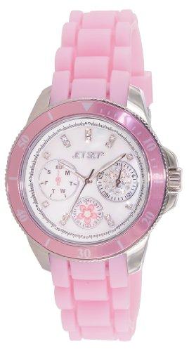 Jet Set J50962-140 - Reloj analógico de cuarzo para mujer con correa de caucho, color rosa