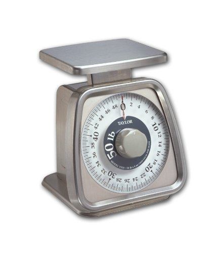 Taylor Food Service 50-Pound Analog Portion Control Scale Stainless Steel