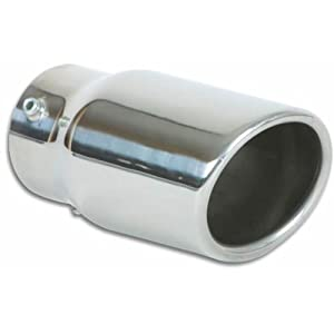 Vibrant (1504) 3-1/2 Oval Stainless Steel Bolt-On Exhaust Tip by Vibrant Performance