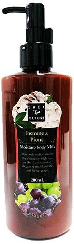 シア&ナチュレN モイスチャーボディミルク ジャスミン&ピオーネの香り