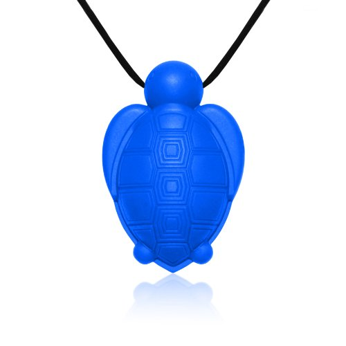 Siliconies Turtle Pendant - Silicone Necklace (Teething/Nursing/Sensory)(Blue)