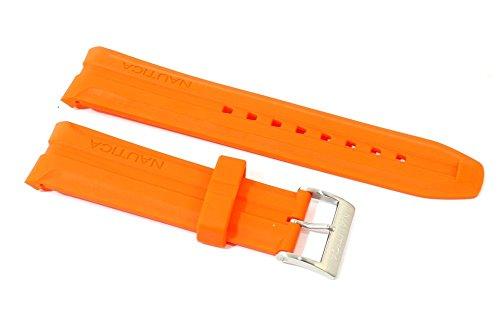 cinturino-in-gomma-arancio-per-orologio-nautica-originale-ansa-curva-24mm-silicone-caucciu-a18627g