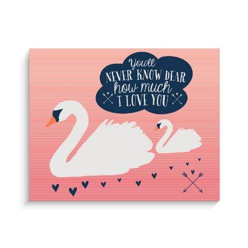 "Lucy Darling Swan Print Wall Decor, 8""x 10"""