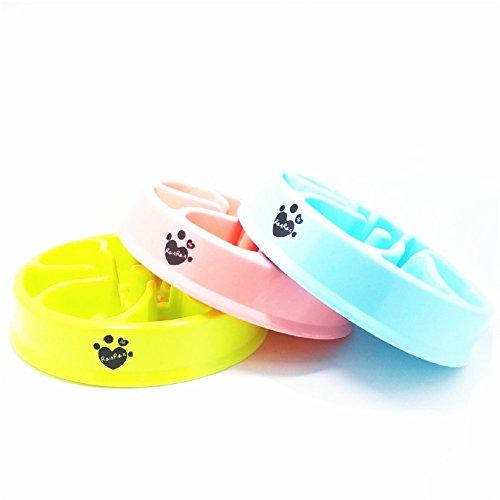 Dr.RanRan 21cm Plastica Cani/Gatti Ciotola Portatile Animali Vassoio Evitare di Animale da Mangiare Troppo e Rimpinzarsi Slow Feeder Dog Disegno Fiore - verde