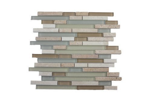Cheap Glass Tile and Stone Spa Strips Mosaic Backsplash Bliss Glass Review