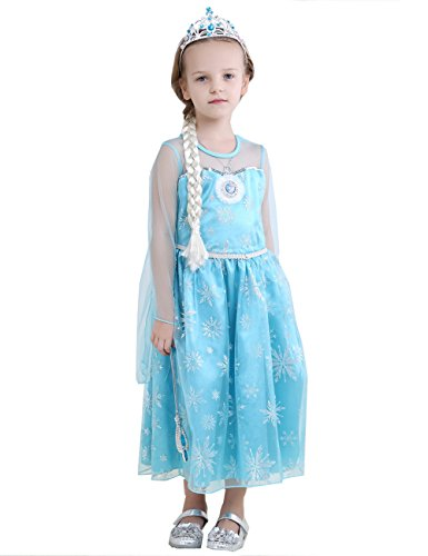 HYS Fashion Girls Snow Queen Elsa Costume Snow Princess Dresses