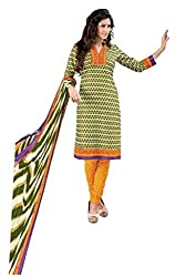 DARPAN TEXTILES Ethnicwear Women's Dress Material(DTCHITRA5095_Green_Free Size)