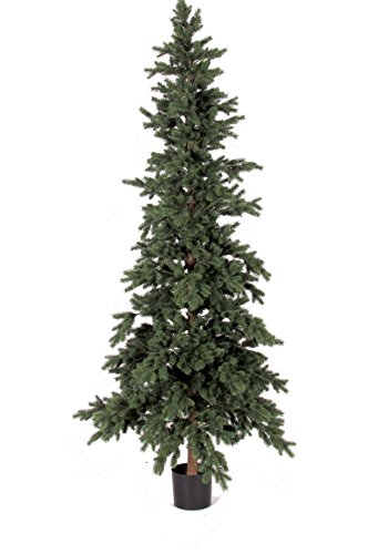 Albero-di-Natale-Artificiale-LUXE-Pino-Argentato-Tronco-naturale-altezza-180cm