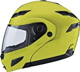 G-Max GM54 Solid Helmet, Distinct Name: Hi-Vis Yellow, Gender: Mens/Unisex, Size: XL, Primary Color: Yellow, Helmet Type: Modular Helmets, Helmet Category: Street G1540607