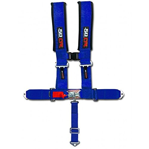 Blue Racing Harness Seat Belt 5 Point Ford Mustang GT Fastback Turbo LX Cobra R