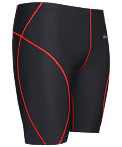 Emfraa Men Women Skin Compression Base Layer Running Tight Shorts Black S ~ 2XL