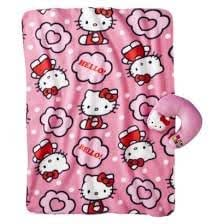 Hello Kitty Pillow And Throw Blanket Set : Amazon.com: Hello Kitty Travel Pillow and Throw Set: Kitchen & Dining