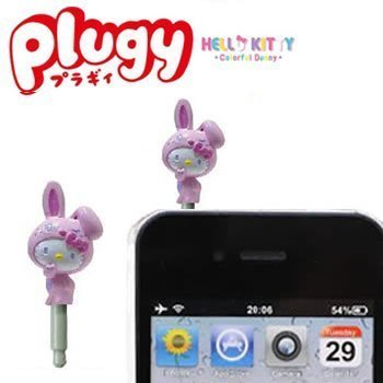 Sanrio Hello Kitty X Colorful Bunny Plugy Earphone Jack Accessory (Pink)
