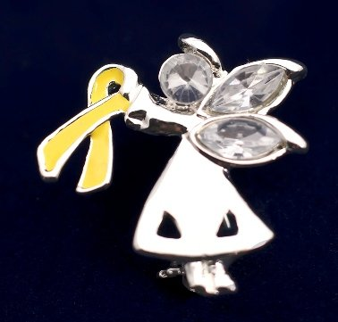 Yellow Ribbon Pin-Angel By My Side (27 Pins)