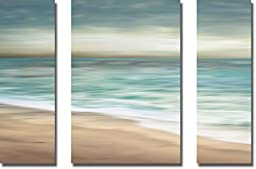 Ocean Calm I, II, & III by Tandi Venter 3-pc Oversize Premium Stretched Canvas Set (Ready to Hang)